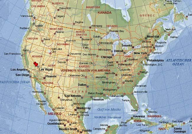 Amerika Karte Las Vegas Goudenelftal