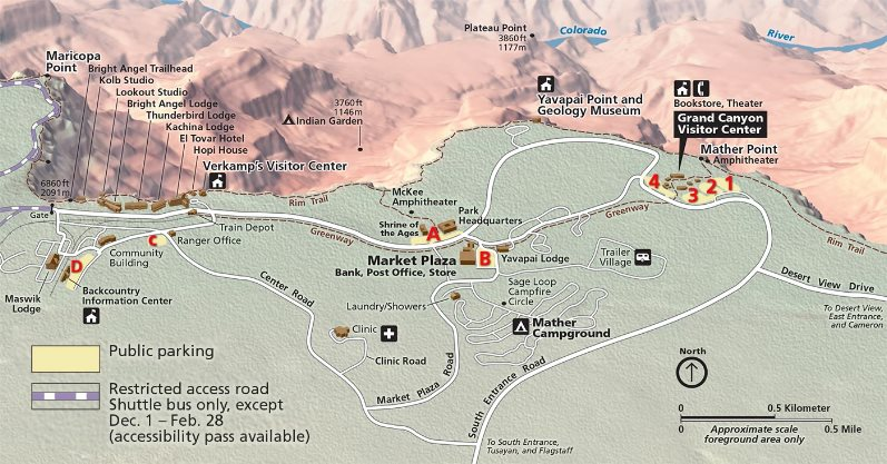 Grand Canyon National Park Aussichtspunkte Wandern